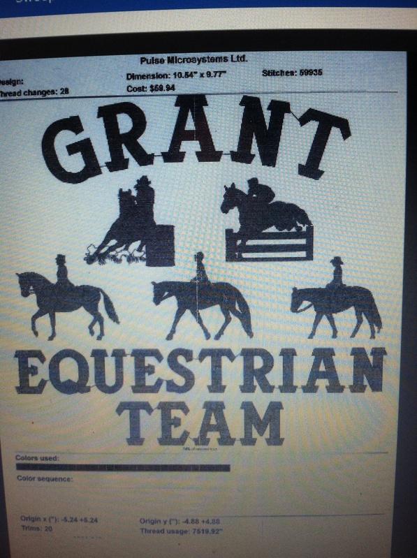 New Grant eq team coats!